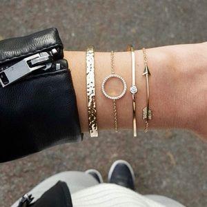 """""""Madeline"""" Diamond Boho Stacked Minimal Bracelets"""